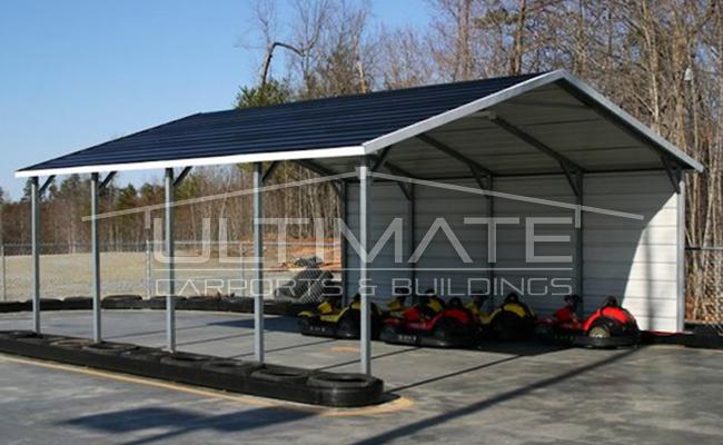 White Aluminum Carports : Metal carports ultimate buildings
